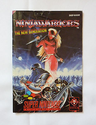 Ninja Warriors The New Generation - Notice de jeu Super Nintendo SNES rare
