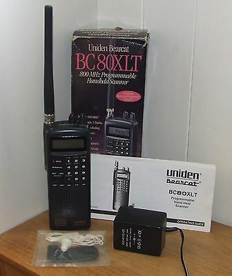 Uniden Bearcat BC80XLT 800 MHz Programmable Hand-Held Scanner / 50 Channels