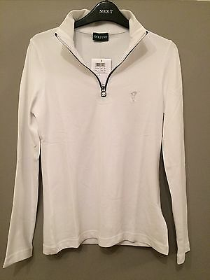 Golfino Ladies Sweater. New with Tags . Size 12 . White