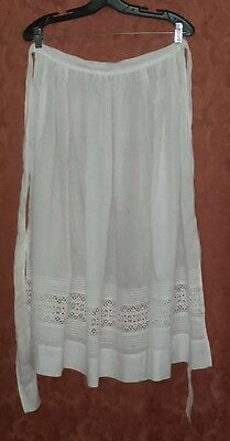 Antique Victorian Early 1900's Ladies Cotton Apron