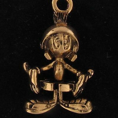 CHARM Marvin The Martian WARNER BROS LOONEY TUNES WB STORE Gold 3D FIGURE 4193