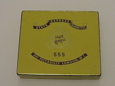 VINTAGE STATE EXPRESS CIGARETTE TIN 555 , 210 PICCADILLY LONDON , No. 3981