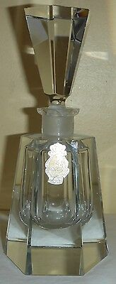 Vintage World's Finest Imperlux Genuine Hand Cut Lead Crystal Perfume Bottle