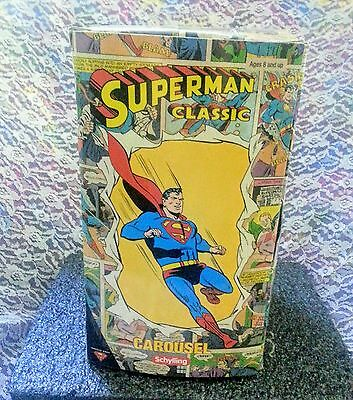 RARE 2001 Superman Supergirl Classic Carousel Tin Toy by Schylling ~ Mint w/box!