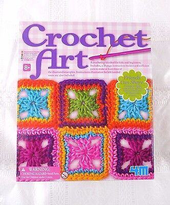 CROCHET ART Craft Kit, Ideal for Children and Beginners, NEW.  Age 8+ Ideal Gift