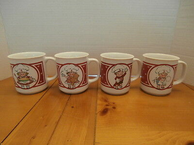 Set of Four Campbell's Soup Kids Mugs