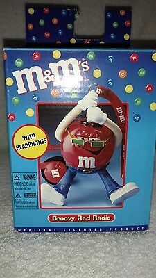 M&M's Groovy Red Radio With Headphones