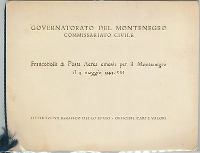 61466 -  ITALY Montenegro - POSTAL HISTORY -  SPECIAL STAMP FOLDER 1943 - RARE!!