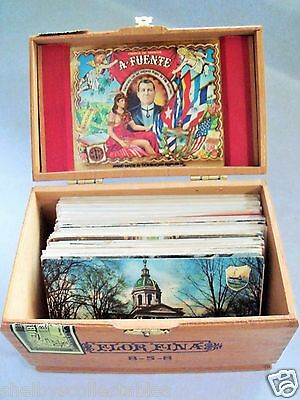CIGAR BOX 100+ LOT OF UN-DIVIDED BACK (UDB) 1900's POSTCARDS OLD UNUSED & USED!
