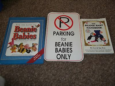 Beanie Babies- Collector Book and Novelty Lot