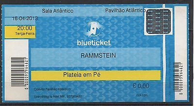 Rammstein Used Ticket 2013 Portugal