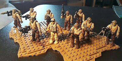 Mega Bloks Call of Duty Desert Tactical Unit [10 figs]