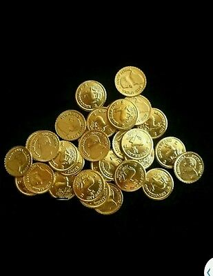 lot 3 krugerrand gold plated coins uncirculated