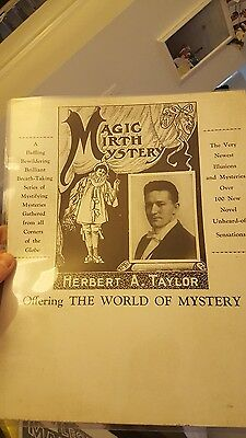 ORIGINAL MAGIC POSTER vintage rare magician Herbert Taylor over 100 years old