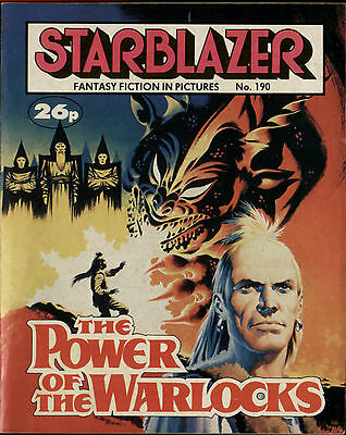 The Power Of The Warlocks,starblazer Fantasy Fiction In Pictures,no.190,comic