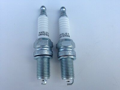 Two (2) Genuine/New Harley Davidson 6R12 Spark Plugs EVO/TwinCam MADE IN USA