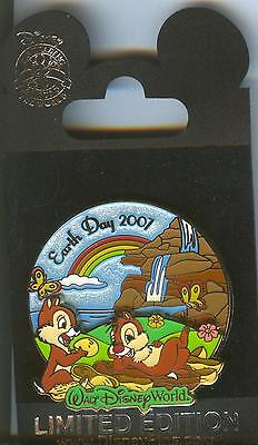 WDW Earth Day 2007 Chip 'n' Dale Pin LE 3D