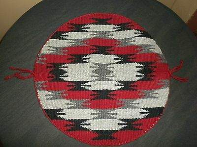 """Beautiful Navajo Round Weaving Rug in """"Mint Condition"""""""