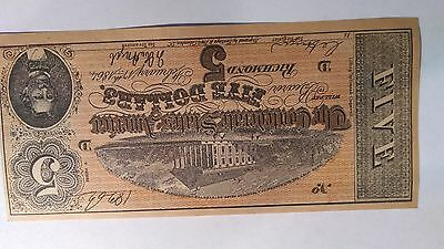 $5  FIVE Dollar1864 Confederate States  Civil War BANK Note facsimile bill