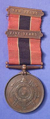 BRITISH NATIONAL FIRE BRIGADES ASSOCIATION LONG SERVICE MEDAL w/BAR NAMED AB0477