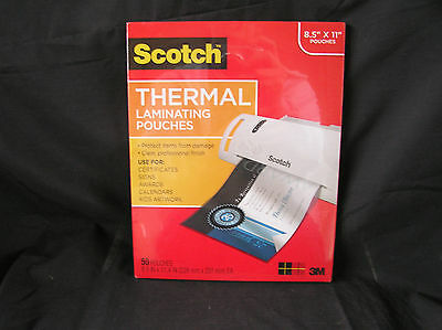 Scotch Pack Thermal Laminating Pouches 8.5 x 11, 50 Pouches, Unopened