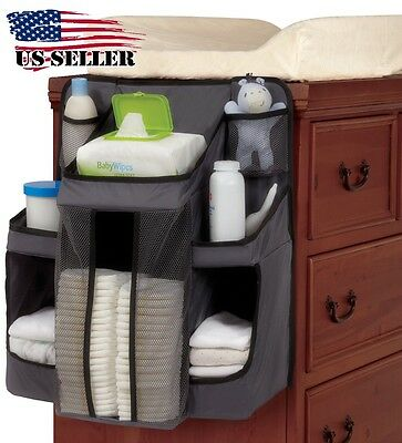 Baby Organizer All You Need Diapers Nursery Storage Crib Changing Table or Wall