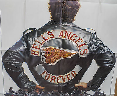 Hells Angels Forever * Orig 1982 Folded One Sheet(27X41) In Super Shape