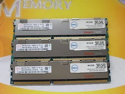 Hynix 24GB 3X 8GB DDR3 PC3L-10600R 1333 MHz  240-Pin ECC REG SERVER SNPTJ1DYC/8G