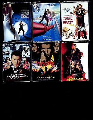 2017 James Bond Archives Final Edition  Metal Movie Poster 12 card set