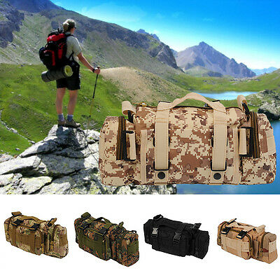 Outdoor Waist Pack Military Tactical Shoulder Molle Bag Camping Hiking Pouch