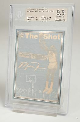 Michael Jordan UDA 1995 The Shot/1982 NBA Jordan Metal Trading Card Free Postage