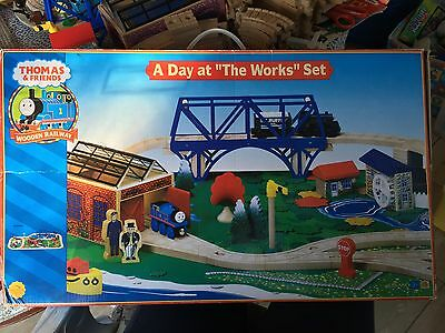 Thomas The Tank Engine A Day At The Works Set Wooden Birthday Gift Christmas