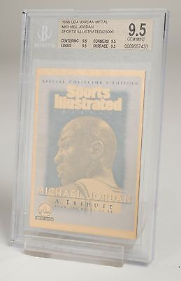 Michael Jordan UDA 1995 Jordan Metal SportsIllustrated NBA TradingCard Free Post