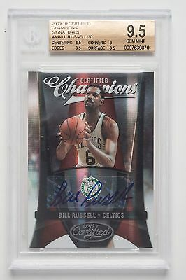 Bill Russell 09-10 NBA Champions Autographed TradingCard Boston Celtics FreePost