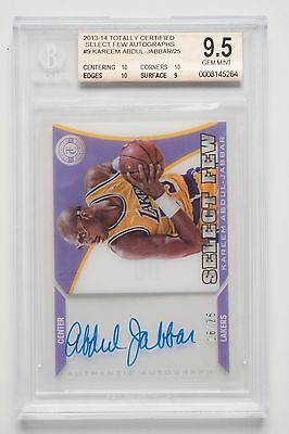 Kareem Abdul-Jabbar NBA 2013-14 Autographed Trading Card. L A Lakers Free Post