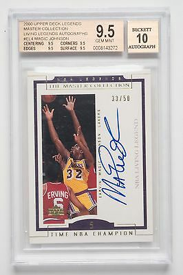 Magic Johnson NBA Living Legends 2000 Autographed Card. Lakers EL4 Free Postage