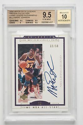 Magic Johnson NBA Living Legends 2000 Autographed Card. L A Lakers EL2 Free Post