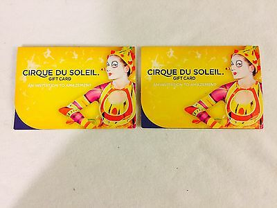 Cirque Du SOLEIL Show Gift Cards Worth $100 Each Used At Any Show In US Only!