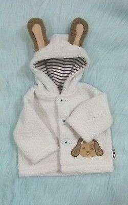 0-3 Months Bunnies by the Bay Baby Hooded Fleece Coat Jacket Puppy Dog B285