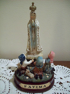 """Our Lady Of Fatima Statue Religious Figurine - Virgin Mary - 6"""" Madonna children"""