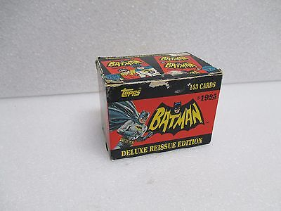 Vintage 1989 Topps Batman Deluxe Reissue Box Set of 143 Trading Cards