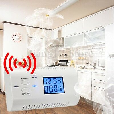 Co Carbon Monoxide Detector LCD Display Alarm Poisoning Gas Fire Voice Warning