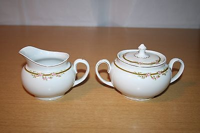 WH Grindley Ardmore Creamer and Sugar Bowl with Lid England