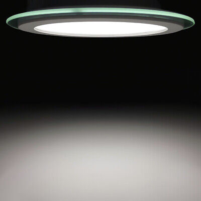 6 inch round glass LED recessed ceiling light - 18 watt dimmable