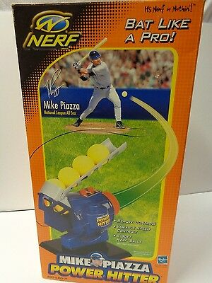 NERF Mike Piazza Power Hitter Pitching Machine Complete in Box Hasbro Baseball