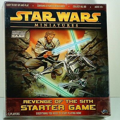 Star Wars Miniatures Starter Board Game Revenge Of The Sith 2005 Sealed