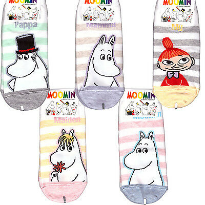 Moomin stripes Low Ankle socks for Woman 1 or 2 pairs choose option 5 kinds
