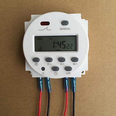 Digital Time Switch Programmable Electronic Time Timer Digital LCD Switch 12V