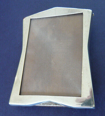 Antique Small Solid Silver Easelback Photograph Frame Broadway & Co 1934 B'ham