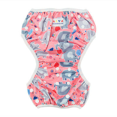Alva Baby Girl Swim Diaper/Nappy Washable Reusable Breathable Cover fit 10-40lbs